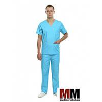 Медицинский костюм мужской Мадрид (морская волна)