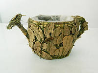 Кашпо лейка с лавровым листом