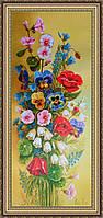 Картина в багетной раме Букет цветов 200х500 мм №655