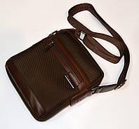 """Мужская сумка тканевая модная коричневая """" DILASICA"""""""
