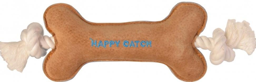 """Игрушка для собак Trixie кость """"Happy Catch"""" плюш на канате 30 см"""