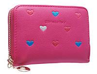 Супер компактный кошелк-визитниц с сердечками PC13 plum