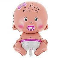 Фольгированный шарик Новорожденная 65см
