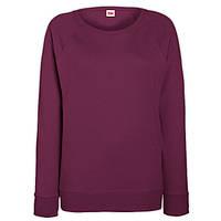 Бордовый свитшот женский приталенный (Толстовка-реглан)