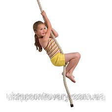 Канат для лазания d=30 мм 4 метра гимнастический с кронштейном , фото 3