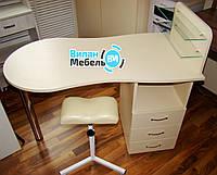"""Комплект, маникюрный стол """"Стандарт""""+тринога для педикюра"""