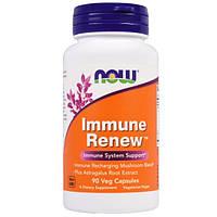 Грибы лечебные, витамины для иммунитета, Now Foods, Immune Renew, 90  капсул