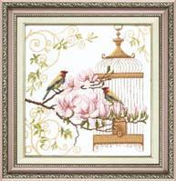 ВТ-037 Набор для вышивания крестом Crystal Art Пение птиц