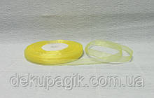 Лента органза, Желтая, 0,5см