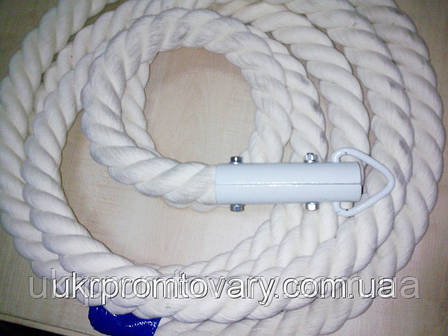 Канат для лазания d=26 мм 2,1 метра гимнастический с кронштейном , фото 2