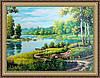 Картина в багетній рамі Весняний пейзаж 300х400 мм №303