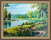 Картина в багетной раме Весенний пейзаж 300х400 мм №303