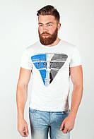 Привлекательная мужская футболка из качественного хлопка свободного кроя с принтом на груди белая, желтая, зеленая, оливковая, оранжевая, салатовая,
