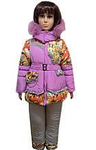 Зимовий комбінезон для дівчинки Яскравий