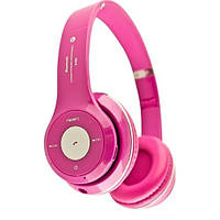 Наушники S460 (bluetooth, mp3) pink