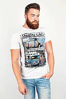 Молодежная мужская футболка с ярким необычным принтом белая, желтая, светло-серая, синяя, темно-серая, черная