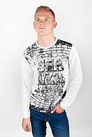 """Модный мужской свитер спортивного стиля с принтом в стиле """"графити"""" впереди белый, голубой, красный, серый, серый меланж, синий, черный"""
