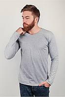 Модный мужской свитер прилегающего кроя  из качественного материала с V-образным вырезом бледно-серый, зеленый, молочно-бежевый, молочный, розовый