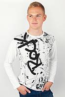 Привлекательный мужской свитер из приятного материала с принтом впереди белый, бордо, индиго, серый, серый меланж, темно-синий, электрик
