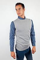 Деловая мужская жилетка классического кроя без лишних декоративных элементов белая, бордо, кирпичная, светло-серая, терракотовая