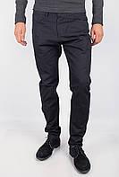 Оригинальные мужские брюки прямого кроя из качественного хлопка темно-синие, черные