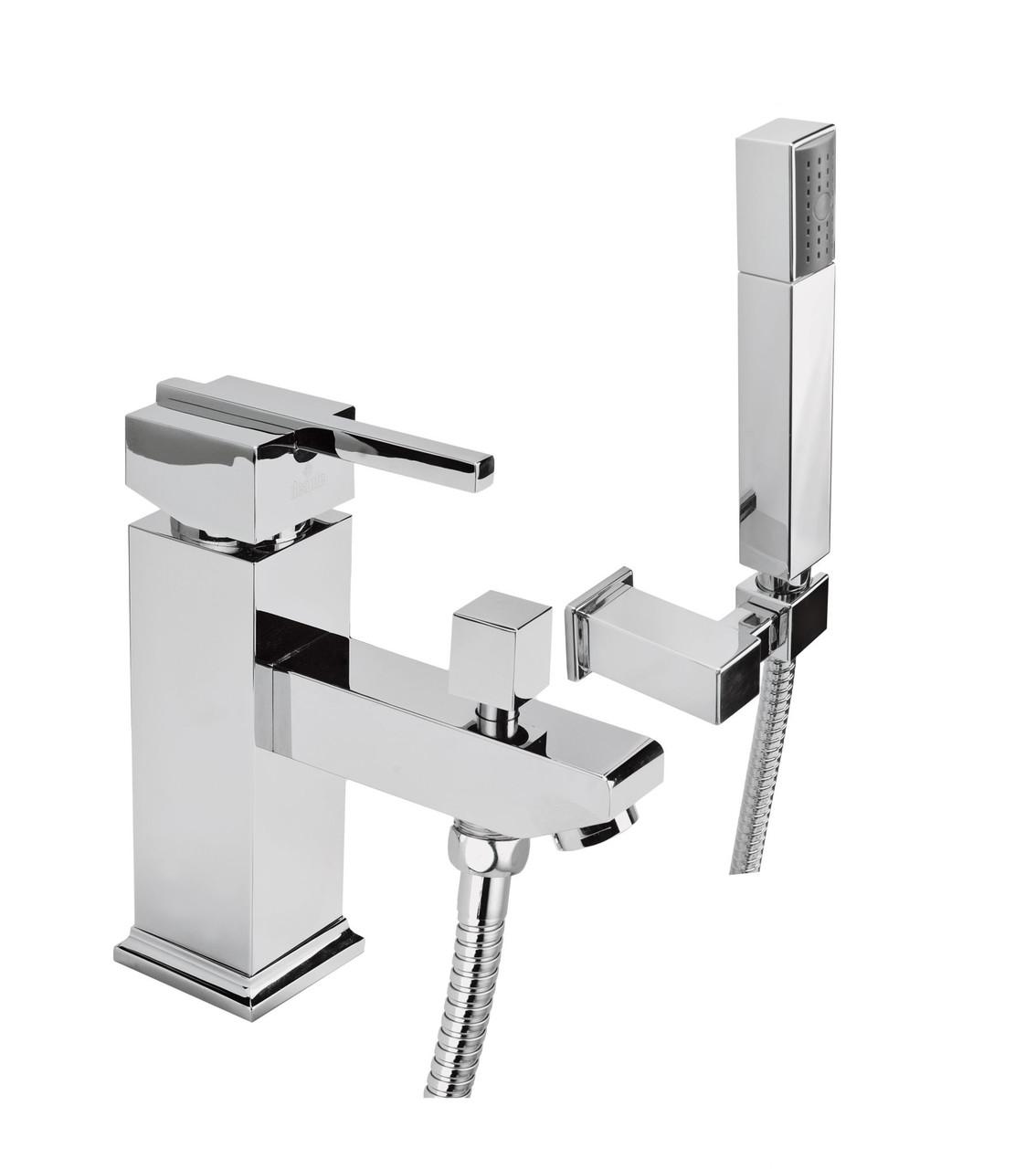 Смеситель для ванны Deante CUBIC на 1 отверстие с душевым комплектом