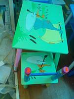 Набор детской мебели J 002-3468 (детский столик и стульчики), дерево.