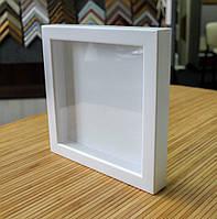 Рамка для 3D 10х10 см белая