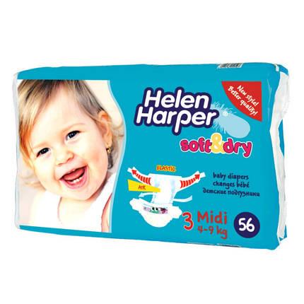 Подгузники детские Helen Harper Ultra Soft Dry Midi 3 (4-9кг) 56 шт ... e7d91f23a72