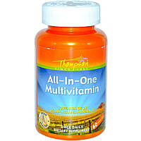 Витамины Thompson All-In-One Multivitamin, 60 капс, 100 % всего 1 т в день!