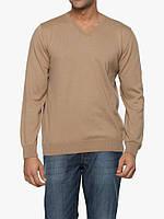Мужской свитер LC Waikiki с V-образным вырезом песочного цвета