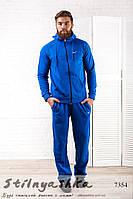 Теплый мужской спортивный костюм Nike индиго