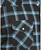 Рубашка Wrangler Two-Tone Blue Plaid 4.5 oz. Flannel Western Shirt - Reg, фото 2