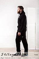 Теплый мужской спортивный костюм Nike черный
