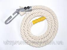 Канат для лазания d=26 мм 2,1 метра гимнастический с кронштейном , фото 3