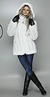 Женская искусственная шуба белая норка  М-52 42-52 размеры