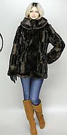 Женская искусственная шуба коричневая норка  М-52 42-52 размеры