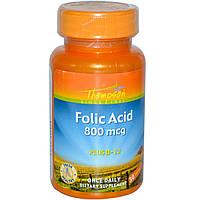 Витамины Thompson Фолиевая кислота (200 мкг) + B 12 (5 мкг)  30 таб