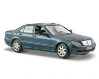 Maisto автомодель (1:26) 2002 mercedes-benz s-class серебристо-синий