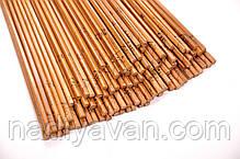 Бамбуковые палочки для еды лакированные 24см, фото 3