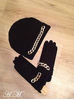 Набор шапка + перчатки МОР093