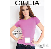Футболка белая женская T-shirt Scollo Tondo Manica Corta Giulia Bianco L/XL