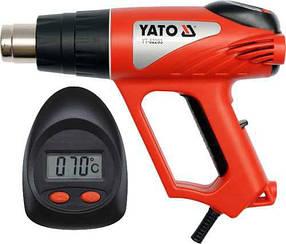 Фен технический с LCD  2000Вт. в наборе 70-600С YATO (YT-82293)