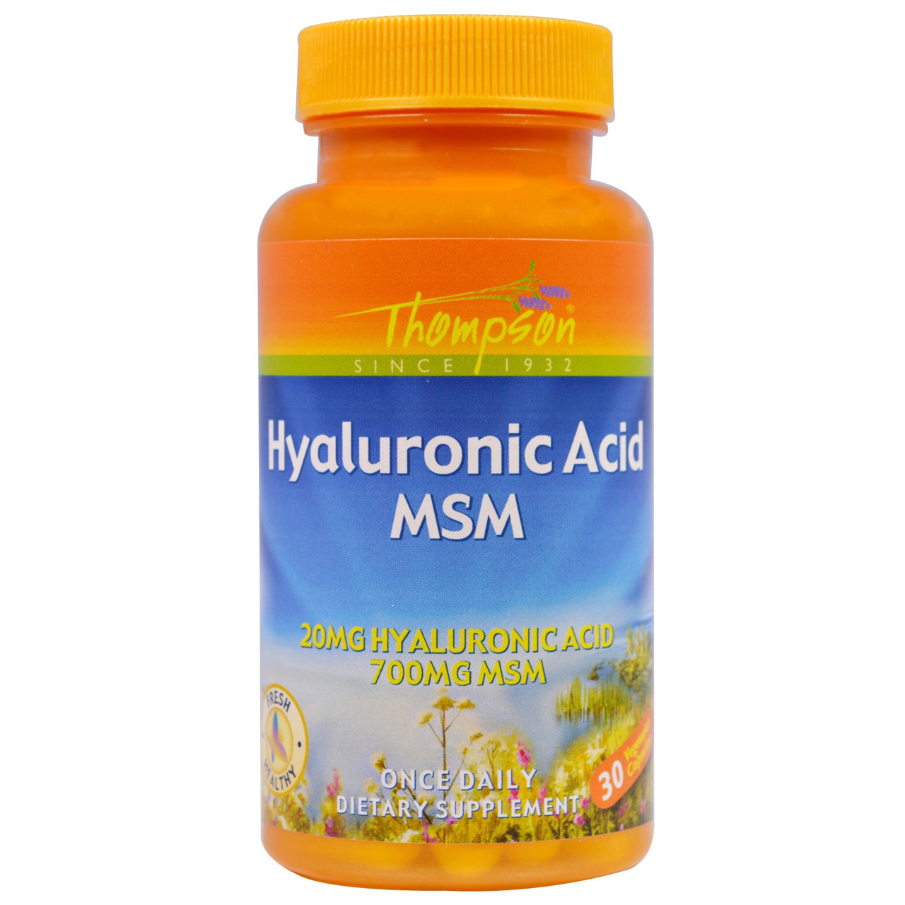 Thompson, Hyaluronic Acid - MSM, 30 капс Гиалуроновая кислота
