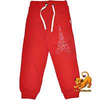 """Детские утепленные спортивные брюки """"Paris"""" , трикотажные на флисе , для девочек от 5 до 8 лет"""