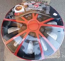 Автомобильные колпаки RAPID red&black R 15
