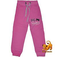 """Детские утепленные спортивные брюки """"Big Sister"""" , трикотаж на флисе , для девочек от 5-8 лет"""