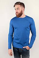 Комфортный мужской свитер из приятного материала с круглым вырезом  без лишних декоративных деталей бордо, графит, зеленый, светло-коричневый,