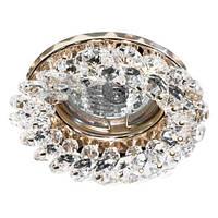 Точечный встраиваемый светильник  Feron CD4141  прозрачный золото