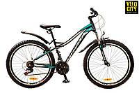 """FORMULA ELECTRA 26"""" 2017 горный женский велосипед черно-бирюзовый, фото 1"""